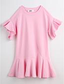 preiswerte Mode für Mädchen-Mädchen Solide Kurzarm Kleid