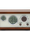 cheap Mechanical Watches-SY-601 FM Alarm Clock World Receiver Coffee / Brown