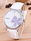 cheap Quartz Watches-Men's / Women's Wrist Watch Chinese PU Band Flower / Fashion / Unique Creative Watch Black / White / Red / Jinli 377