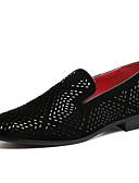 abordables Americanas y Trajes de Hombre-Hombre Zapatos formales Sintéticos Otoño / Invierno Casual Zapatos de taco bajo y Slip-On Negro / Fiesta y Noche