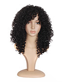 billige Toppe-Syntetiske parykker Krøllet Syntetisk hår Varme resistent / Afroamerikansk parykk Svart Parykk Dame Lang Lokkløs