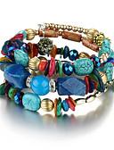 cheap Men's Shirts-Unisex Chain Bracelet / Wrap Bracelet - Flower Bohemian, Natural, Fashion Bracelet Red / Green / Blue For Party / Birthday / Gift