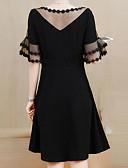 رخيصةأون فساتين الاشبينات-فستان نسائي قياس كبير كلاسيكي عصري طول الركبة لون سادة مناسب للحفلات