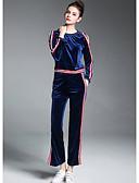 baratos Ternos de Duas Peças Femininos-Mulheres Camiseta Estampa Colorida Calça