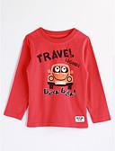 baratos Camisas para Meninos-Para Meninos Blusa Desenho Animado Outono Algodão Manga Longa Desenho Vermelho