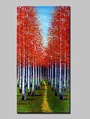 cheap Men's Hoodies & Sweatshirts-Oil Painting Hand Painted - Landscape Abstract Modern Canvas