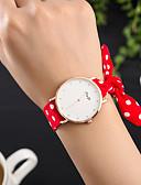 cheap Quartz Watches-Women's Wrist Watch Quartz Creative Cool Fabric Band Analog Charm Luxury Casual Black / White / Red - White Black Red