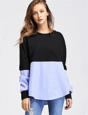 baratos Camisas Femininas-Mulheres Camisa Social - Trabalho Estampa Colorida Poliéster