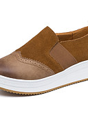 cheap Women's Dresses-Women's Shoes Suede Spring / Fall Comfort Loafers & Slip-Ons Low Heel Round Toe Black / Brown