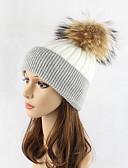 preiswerte Damen Hosen-Damen Hut, Wolle Schlapphut Skimütze - Patchwork Einfarbig