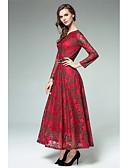 cheap Women's Dresses-Women's Going out A Line Dress - Jacquard V Neck / Spring / Summer