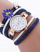 baratos Relógios da Moda-Mulheres Relógio de Moda Bracele Relógio Quartzo Criativo Relógio Casual Legal Tecido Banda Analógico Amuleto Casual Preta / Branco / Azul - Preto Vermelho Azul