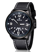 cheap Quartz Watches-Men's / Women's Sport Watch / Military Watch / Smartwatch Chinese Calendar / date / day / Creative / Cool Leather Band Charm / Luxury / Bangle Black / Brown / Large Dial / Two Years / Maxell SR626SW