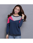 cheap Women's Hoodies & Sweatshirts-Women's Daily Color Block Round Neck Sweatshirt Regular, 3/4 Length Sleeves Spring Summer Fall Cotton