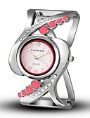 cheap Quartz Watches-Women's Wrist Watch Quartz Casual Watch Alloy Band Analog-Digital Casual Bangle Fashion Black / White / Blue - Red Blue Pink One Year Battery Life / TY 377A