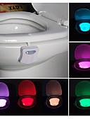 tanie Damskie szaliki-łazienka toaleta nocna led ruch ciała aktywowany włącz / wyłącz czujnik siedzenia lampa pir toaleta lampa nocna