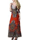 levne Dámské šaty-Dámské Větší velikosti Práce kaftan Šaty - Jednobarevné Maxi Low Rise