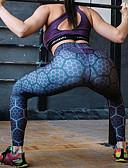 baratos Calças e Saias-Mulheres Esportivo Legging - Estampa Colorida, Estampado Cintura Alta