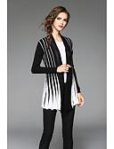 preiswerte Damen Pullover-Damen Langarm Strickjacke-Einfarbig,Gefaltet