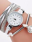 ieftine Quartz-Pentru femei femei Ceas Brățară Simulat Diamant Ceas Quartz imitație de diamant PU Bandă Analog Casual Boem Modă Negru / Alb / Albastru - Fucsia Rosu Albastru Deschis Un an Durată de Viaţă Baterie
