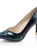 זול קווארץ-בגדי ריקוד נשים נעליים PU קיץ בלרינה בייסיק עקבים עקב סטילטו בוהן מחודדת פוקסיה / כחול / שמלה