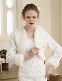 Χαμηλού Κόστους Λουλουδάτα φορέματα για κορίτσια-Ψεύτικη Γούνα Γάμου / Πάρτι / Βράδυ Γυναικείες εσάρμπες Με Γούνα Μπολερό