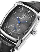 זול שעוני יוקרה-בגדי ריקוד גברים שעון יד Japanese קווארץ 30 m לוח שנה מגניב עור אמיתי להקה אנלוגי פאר יום יומי אופנתי שחור - לבן שחור