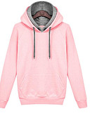 cheap Women's Hoodies & Sweatshirts-Women's Cotton Hoodie - Solid Colored / Spring / Fall / Sporty Look
