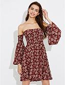 preiswerte Damen Kleider-Damen Arbeit Hülle Spitze Kleid - Druck, Solide Mini Schulterfrei Tiefe Hüfthöhe
