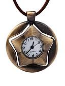 baratos Relógios Mecânicos-Homens Relógio de Bolso Mecânico - de dar corda manualmente Criativo Relógio Casual Couro Banda Analógico Vintage Marrom - Bronze