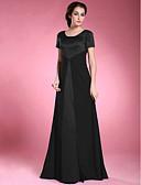 Χαμηλού Κόστους Φορέματα για τη Μητέρα της Νύφης-Γραμμή Α Scoop Neck Μακρύ Σιφόν / Σατέν Φόρεμα Μητέρας της Νύφης με Χάντρες με LAN TING BRIDE®