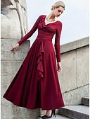 levne Dámské šaty-Dámské Větší velikosti Dovolená Šik ven Swing Šaty - Jednobarevné Maxi Do V High Rise