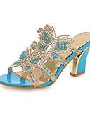abordables Biquinis y Bañadores para Mujer-Mujer Zapatos PU Primavera / Otoño Confort / Innovador Sandalias Tacón Cuadrado Puntera abierta Cristal / Purpurina / Con Cordón Dorado /