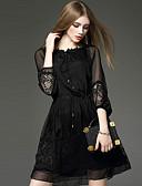 povoljno Ženske haljine-Žene A kroj Korice Little Black Haljina - Čipka, Jednobojni Vez