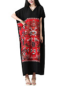 cheap Women's Dresses-Women's Work Loose / Shift Dress - Solid Colored Low Rise Maxi