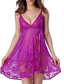 cheap Women's Nightwear-Women's Gartered Lingerie Nightwear - Lace, Solid Colored Patchwork