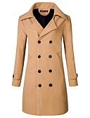 cheap Men's Jackets & Coats-Men's Long Slim Overcoat - Solid Colored