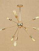billige Brudepikekjoler-9-Light Sputnik Lysekroner Omgivelseslys galvanisert Metall Mini Stil, Justerbar, designere 110-120V / 220-240V Pære ikke Inkludert / E26 / E27