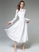 זול שמלות נשים-עומד מידי תחרה, אחיד - שמלה גזרת A בגדי ריקוד נשים