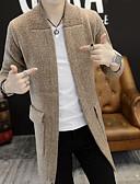 זול סוודרים וקרדיגנים לגברים-אחיד - קרדיגן ארוך שרוול ארוך צווארון חולצה סוף שבוע בגדי ריקוד גברים