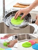 baratos Vestidos de Noite-Alta qualidade 1pç Borracha Escova e Pano de Limpeza Ferramentas, Cozinha Produtos de limpeza