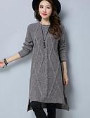 olcso Női ruhák-Női Bő Ruha Egyszínű Térdig érő