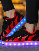 זול 2017ביקיני ובגדי ים-בנות נעליים רשת / בד סתיו נוחות / נעליים זוהרות נעלי ספורט סקוטש / LED ל ורוד ולבן / שחור לבן / שחור אדום