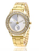 cheap Quartz Watches-Men's Women's Quartz Simulated Diamond Watch Wrist Watch Chinese Hot Sale Metal Band Charm Fashion Silver Gold Rose Gold