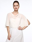 cheap Evening Dresses-Sleeveless Chiffon Wedding / Party / Evening Women's Wrap With Ponchos