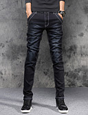 cheap Luxury Watches-Men's Cotton Slim Skinny / Slim / Jeans Pants - Solid Colored / Weekend