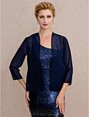 hesapli Gelin Annesi Elbiseleri-Şifon Düğün Parti / Gece Kadın Eşarpları Kabanlar / Ceketler