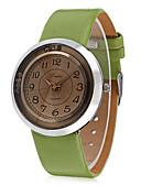 ieftine Ceasuri La Modă-JUBAOLI Pentru femei Ceas de Mână Quartz Piele Negru / Alb / Maro Ceas Casual Cool Analog femei Charm Casual Modă - Negru Cafea Verde Deschis