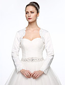cheap Wedding Dresses-Satin Wedding / Party / Evening Women's Wrap With Beading / Appliques Shrugs