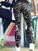 preiswerte Damen Hosen-Damen Sportlich Legging - Druck, Buchstabe Hohe Taillenlinie